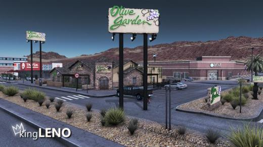 Photo of Cities: Skylines – Olive Garden Signs