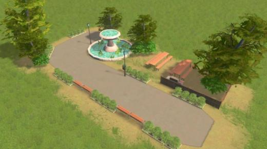 Photo of Cities: Skylines – T4rget's Park With Grill 2×4