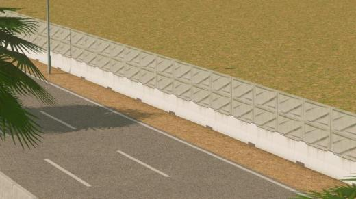 Photo of Cities: Skylines – Thai Motorway Fence Network(Sound Barrier) #2