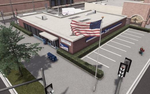 Photo of Cities: Skylines – USPS Post Office – Brick