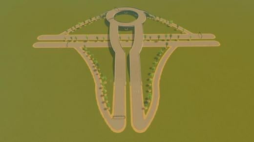 Photo of Cities: Skylines – 3-Way Roundabout Interchange