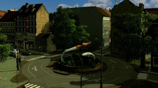Photo of Cities: Skylines – Roundabout Monument 'Ancient Sword'