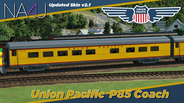 Photo of Transport Fever – Union Pacific P85 Coach Wagon Mod