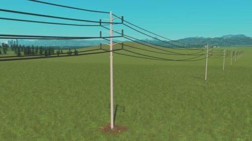 Photo of Cities: Skylines – Dual Circuit Tubular Transmission Line – Washington