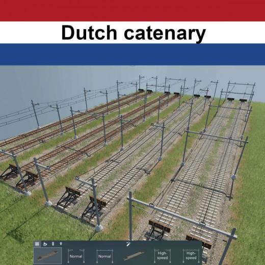 Photo of Transport Fever 2 – Dutch Catenary Set