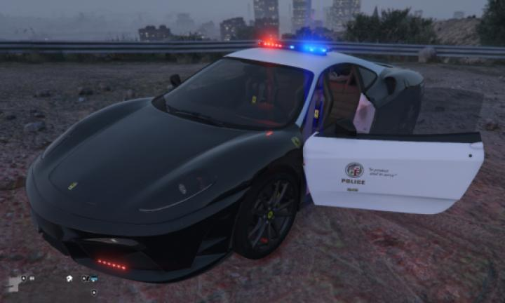 Gta 5 - Ferrari F430 Scuderia Police Car - New PC Game Modding