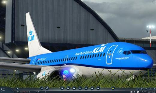 Photo of Transport Fever 2 – KLM Royal Dutch Airlines Boeing 737-700