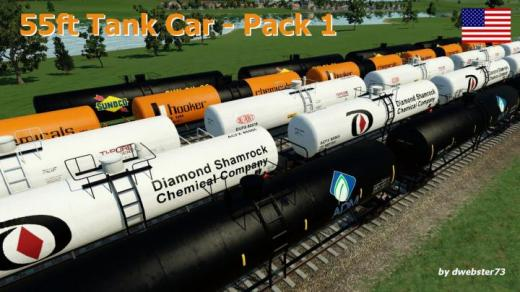 Photo of Transport Fever 2 – Tankcar 55ft – Pack 1