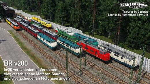 Photo of Transport Fever 2 – V200 in 20 Different Variants