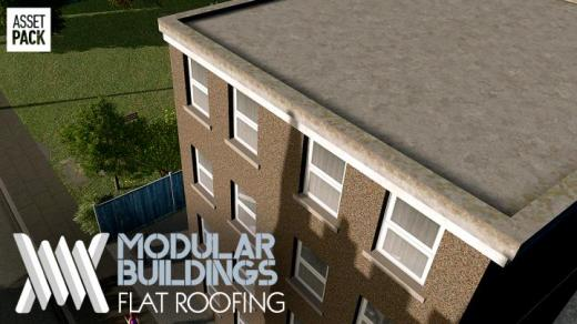 Photo of Cities: Skylines – Modular Buildings: UK Modern Flat Roofing