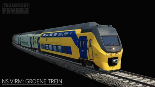 Photo of Transport Fever 2 – NS VIRM: Groene Trein