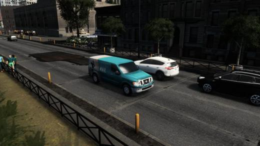 Photo of Cities: Skylines – Alpha Mail Couriers & Nissan NV 3500 Mail Car