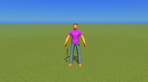Photo of Cities: Skylines – Male Adult Purple Shirt (Blue Collar)