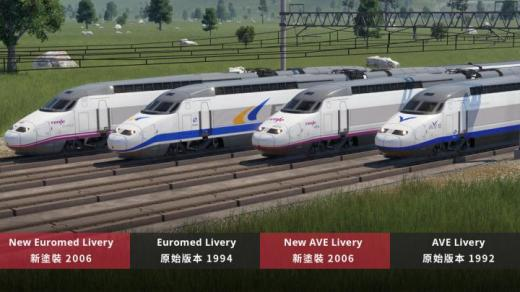 Photo of Transport Fever 2 – Renfe AVE & Euromed (Class 100 & 101)