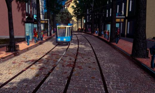 Photo of Cities: Skylines – Tatra KT4D (Tram) (Line Colored)