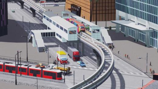 Photo of Cities: Skylines – White Tile Monorail Station