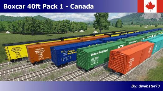 Photo of Transport Fever 2 – Boxcar 40ft Pack 1 – Canada
