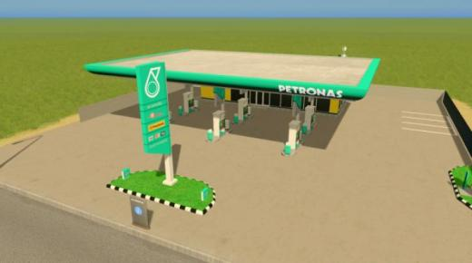 Photo of Cities: Skylines – Petronas Gas Station