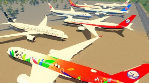 Photo of Cities: Skylines – A350-900 in CAAC