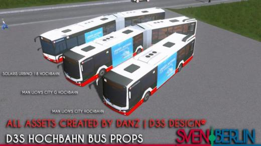 Photo of Cities: Skylines – D3S Hochbahn Bus Props