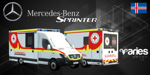 Photo of Cities: Skylines – Mercedes-Benz Sprinter Ambulance Iceland