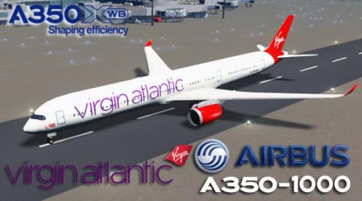 Photo of Cities: Skylines – Airbus A350-1000 Virgin Atlantic