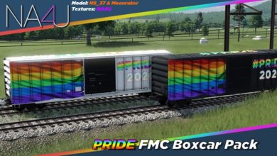 Photo of Transport Fever 2 – FMC 50ft Boxcar – Pride 2020 Skin Pack