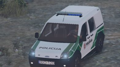 Photo of GTA 5 – Ford Connect Lithuanian Police Car Mod