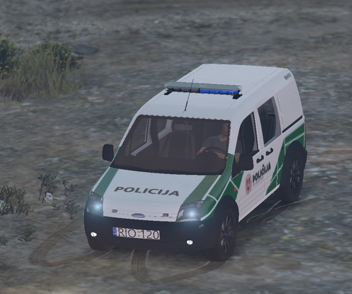 Ford Connect Lithuanian Police Car Mod