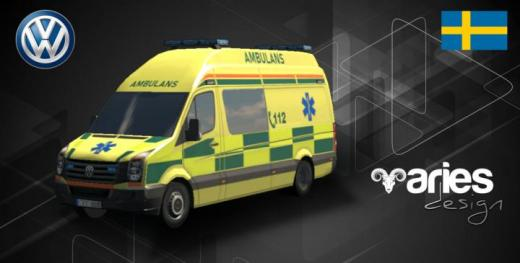 Photo of Cities: Skylines – Volkswagen Crafter Ambulans (SWE)
