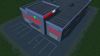 Photo of Cities Skylines – Red Clinic Sign – Small