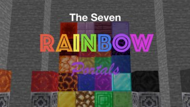 Photo of Minecraft – The Seven Rainbow Portals Variety Map