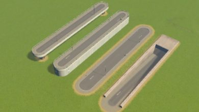 Photo of Cities Skylines – Two-Lane Road with Concrete Wall