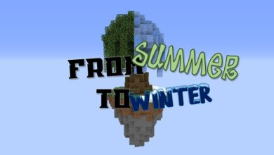 Photo of Minecraft – From Summer to Winter Parkour Map