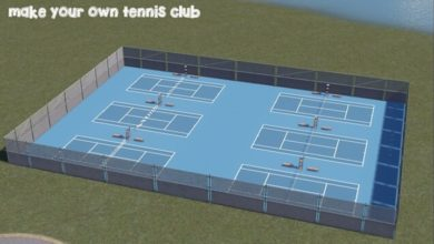 Photo of Cities Skylines – Tennis Court (Paintable)