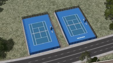 Photo of Cities Skylines – Tennis Court (Blue)