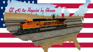 Photo of Transport Fever 2 – GE C40 8w – BNSF + Double Traction