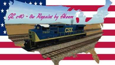 Photo of Transport Fever 2 – GE C40 8W – CSX (Dark Future) + Double Traction